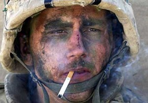us-marine-smoking