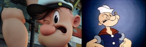 new and old popeye