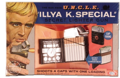 Man from U.N.C.L.E. cigarette case toy, actually sold to kids.