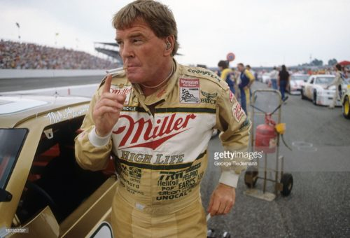 Auto Racing: NASCAR Heinz Southern 500: Dick Trickle (84) smoking cigarette on track before race at Darlington Raceway.  Darlington, SC 9/3/1989 CREDIT: George Tiedemann (Photo by George Tiedemann /Sports Illustrated/Getty Images) (Set Number: X38788 TK3 R6 F13 )